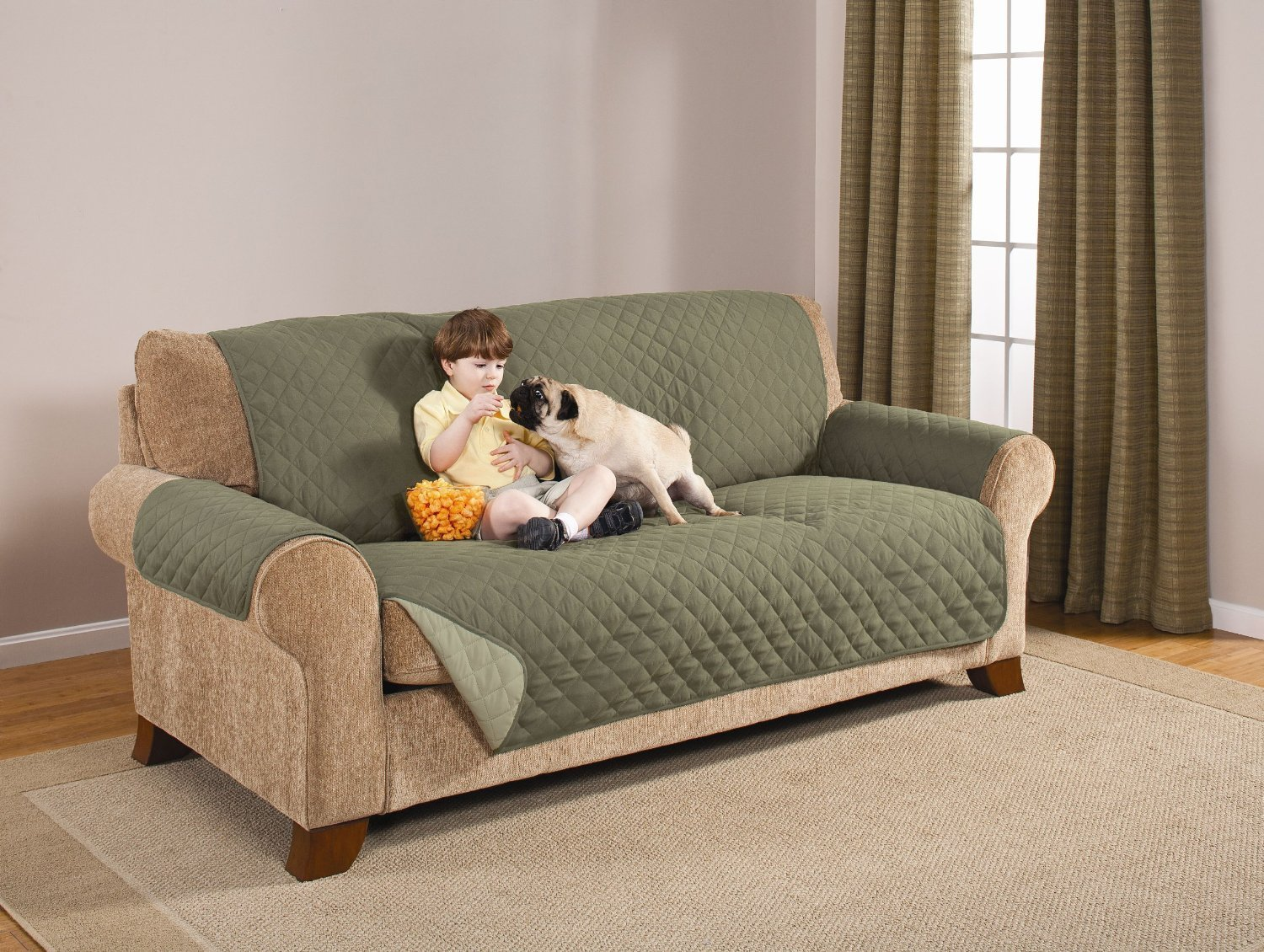 Attrayant Deluxe Reversible Sofa Furniture Protector