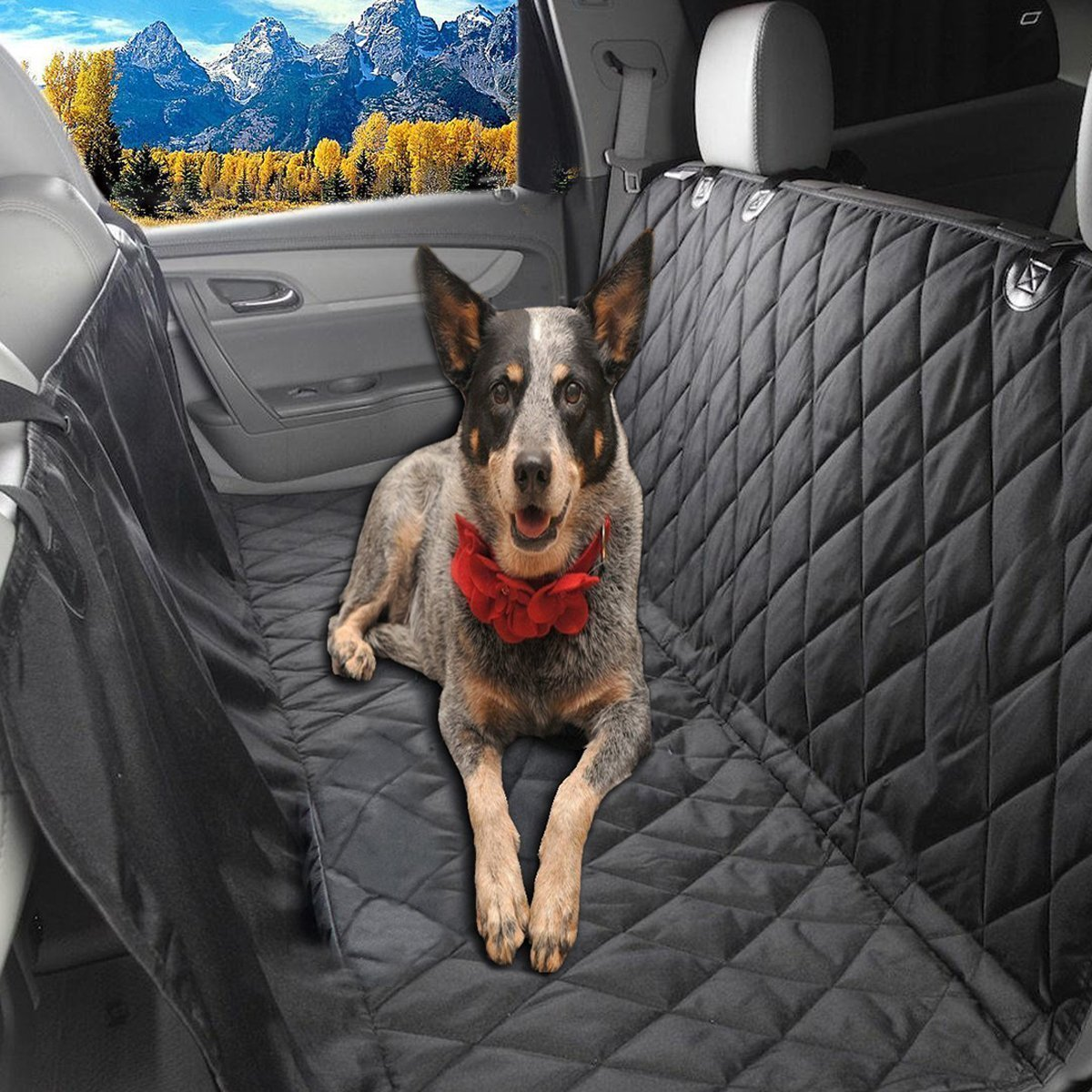 8 Glyby Dog Car Seat Cover Backing For Pet Quilted Waterproof Non Slip Hammock Convertible